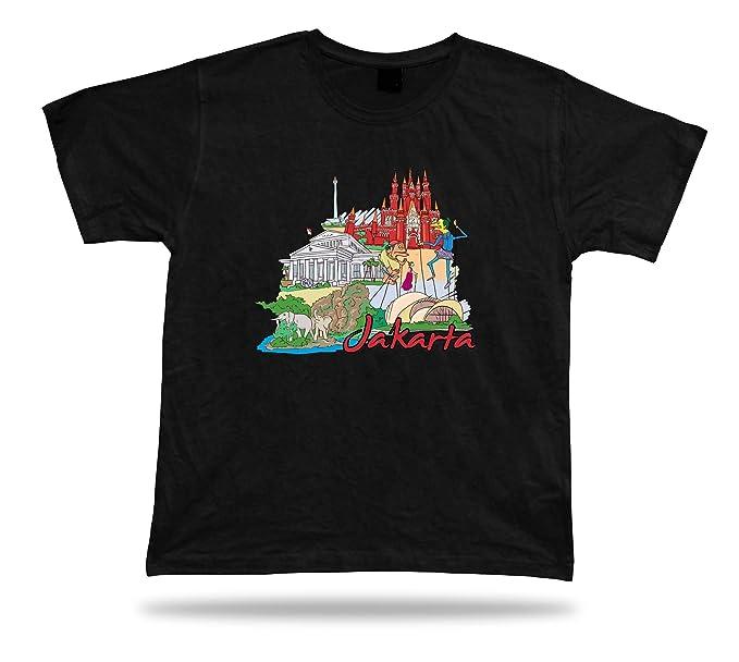 Jakarta Museo Nacional Indonesia Ragunan Zoo Taman Mini Indonesia Camiseta tee: Amazon.es: Ropa y accesorios