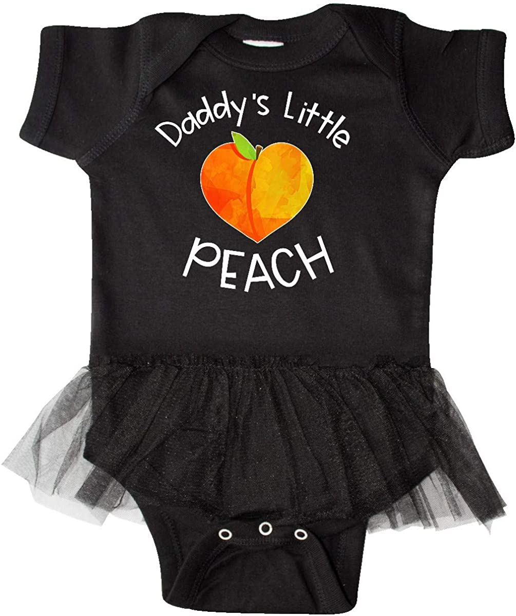 inktastic Daddys Little Peach Cute Peach Heart Infant Tutu Bodysuit