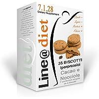 BISCOTTI IPERPROTEICI Line@Diet per Dieta Proteica (CACAO E NOCCIOLE, 7 conf.singole)