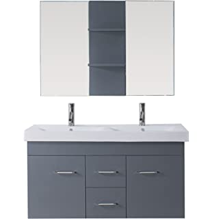 bathroom vanity double sink 48 inches. virtu usa um-3067-c-gr modern 48-inch double sink bathroom vanity 48 inches