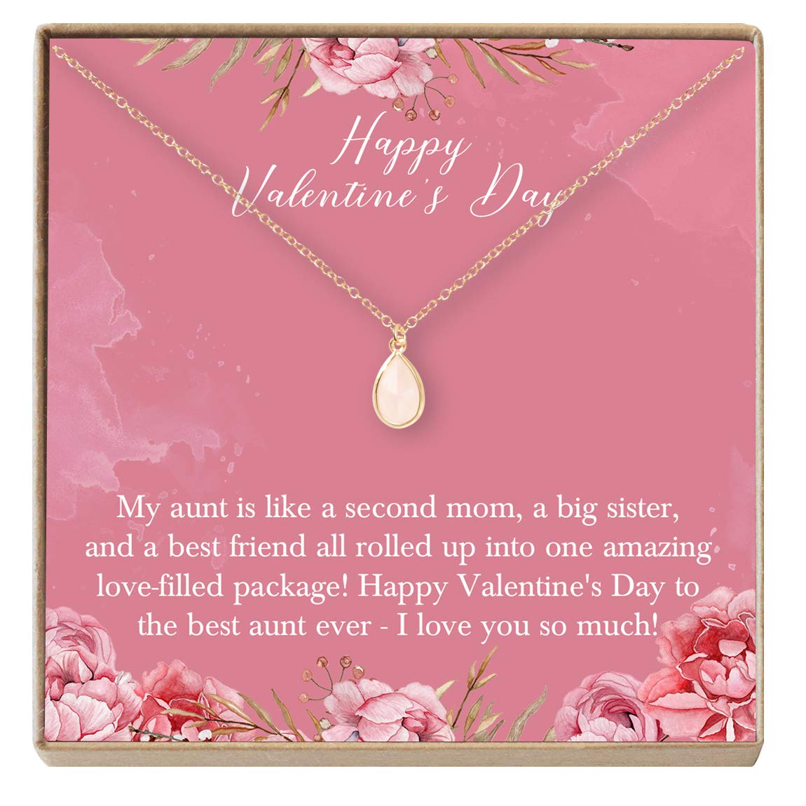 Valentines Day Dear Ava for Aunt Necklace