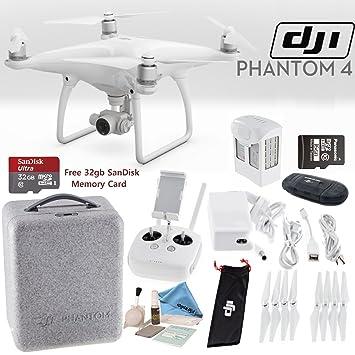 Amazon.com: DJI Phantom 4 Quadcopter Starters Bundle: Camera ...