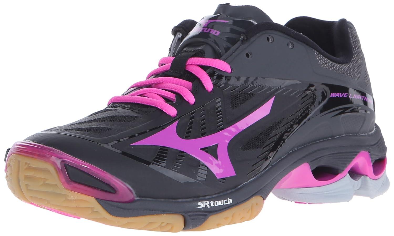 Mizuno Women's Wave Lightning Z2 Volleyball Shoe B01AUPRIEA 6 D US|Black/Pink