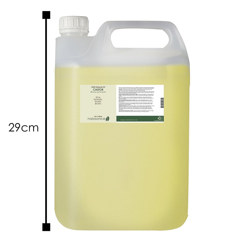 Naissance Aceite de Ricino 5 litros - Puro, natural, vegano, sin hexano, no OGM - Hidrata y nutre el cabello, las cejas y las pestañas: Amazon.es: Belleza