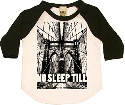 1e0b7d1cb Amazon.com: No Sleep Till Brooklyn Cool Baby Onesie, Bodysuit, Tops ...