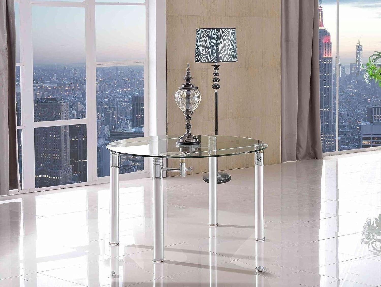 torino designer extending glass dining table amazoncouk  - torino designer extending glass dining table amazoncouk kitchen  home