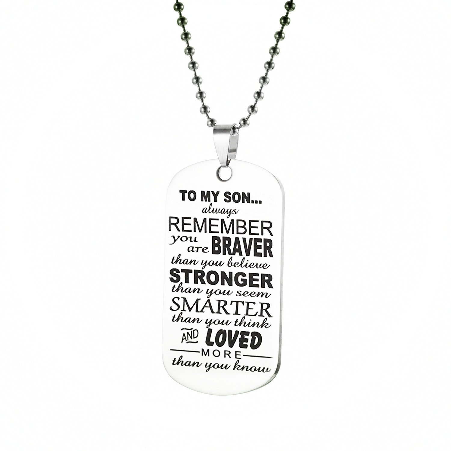 Heng Yi Always Remember You are Braver Than You Believe Necklace JN0001-1/HYCA