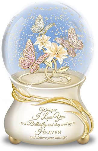 The Bradford Exchange Musical Glitter Globe for Daughter with Poem Card Plays You are My Sunshine