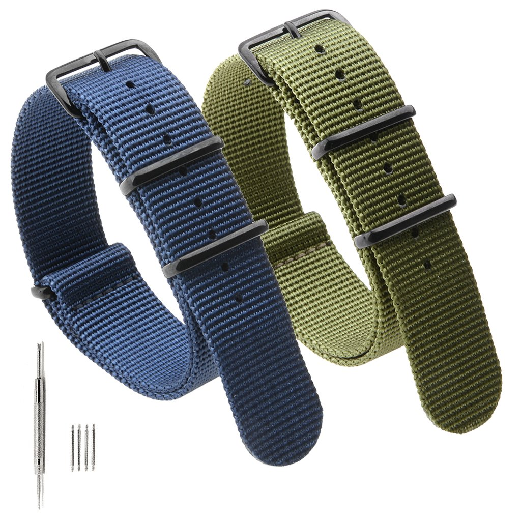 a029c6deca9 ... nylon webbing and top quality polished black stainless steel buckle  makes it comfortable to wear.The nato nylon watch band is  stylish