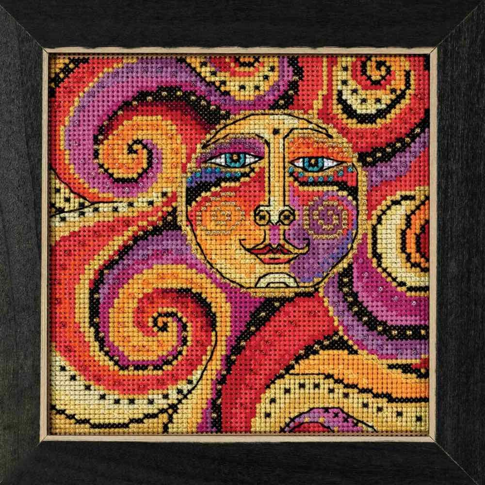 Mill Hill Celestial Sun Beaded Counted Cross Stitch Kit 2018 Laurel Burch Celestial Collection LB141812