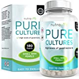 Pure Cultures Triple Strength Maximum CFU 180 (6 Months Supply) Time Release High Strength Pearls