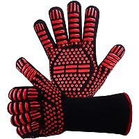 Win.Max BBQ Handschoenen Oven Mitt Hand Bescherming tegen Grilling, BBQ, Branden, Magnetron Oven en andere warm werk in…