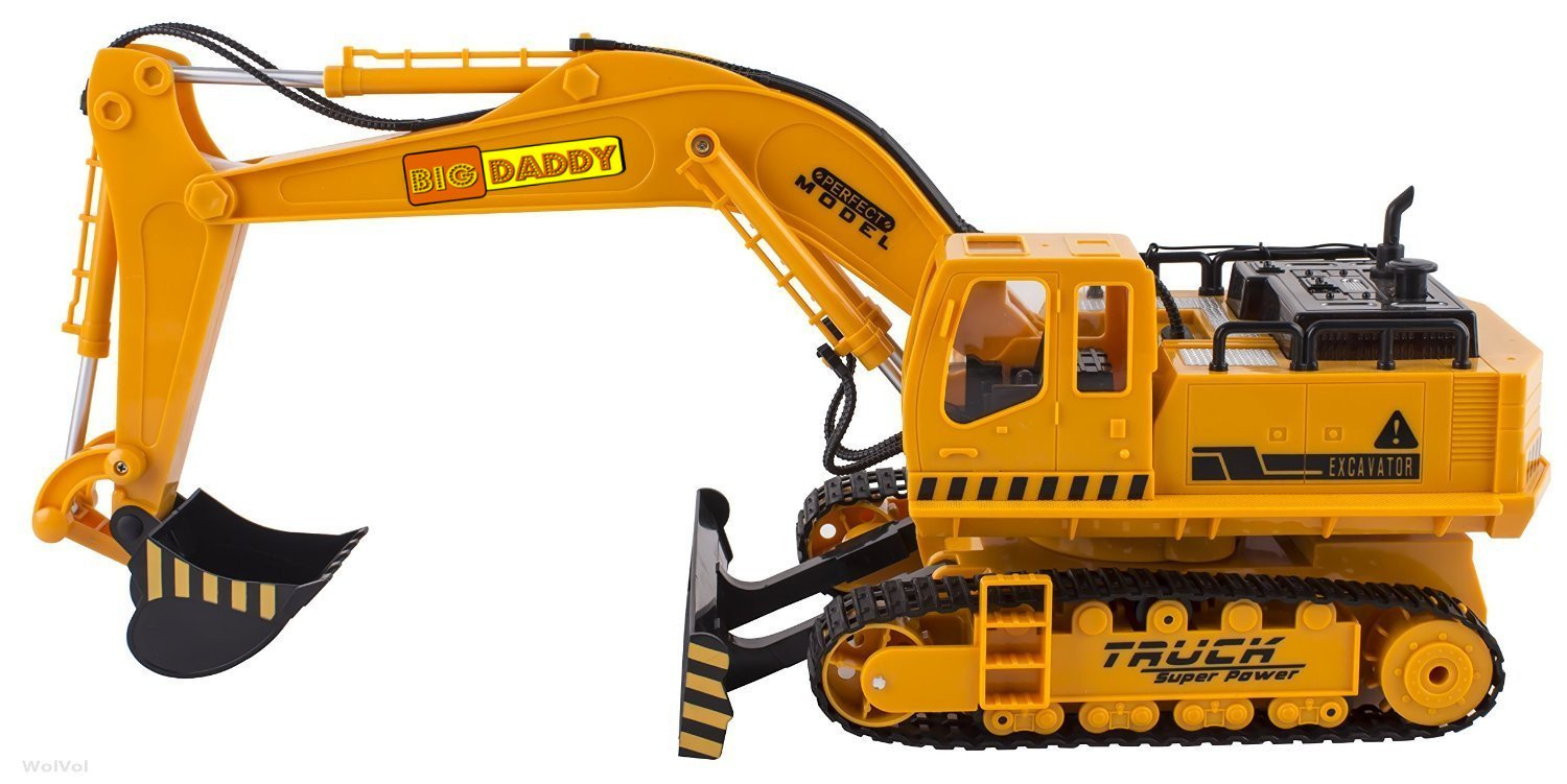 Outdoor Construction Toys : Big daddy full functional excavator electric rc remote