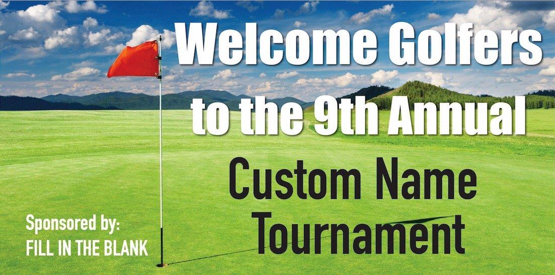 Custom Printed Golf Tournament Banner - Putting (10' x 5')