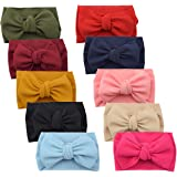 2019 Big Hair Bow Baby Headbands Knot Headwrap Nylon Elastic Head Wraps for Newborn Infant Toddler Hair Accessories