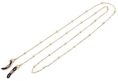 ca027ae420d3f LIKGREAT Lunettes en Forme de chaîne Femme Perles Cordons de Lunettes de Lecture  Lunettes de Soleil