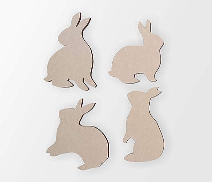 Wooden Bunny Rabbit Silhouettes 3 Bunny Rabbits Cutout Home Decor