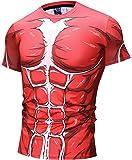 Pizoff T-Shirt Figa Palestra con Stampa Anime 3D Compressione Unisex
