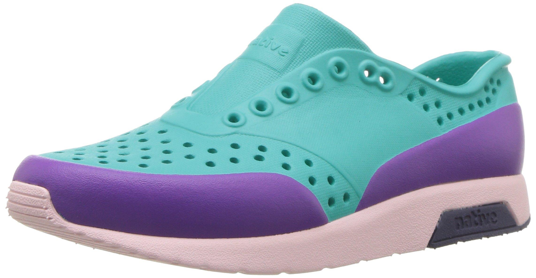 Native Shoes Unisex Lennox Junior Sneaker, Glacier Green/Cold Pink/Regatta Blue/Starfish Block, 1 Medium US Little Kid