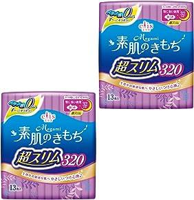 エリス Megami 素肌のきもち 超スリム 羽つき 32cm (特に多い夜) 26枚(13枚入×2パック) 【まとめ買い】