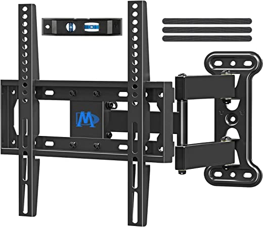 Mounting Dream UL Listed TV Mount TV Wall Mount Swivel and Tilt for 26-55 Inch TV, Perfect Center Design, Full Motion TV Wall Mount Bracket with…