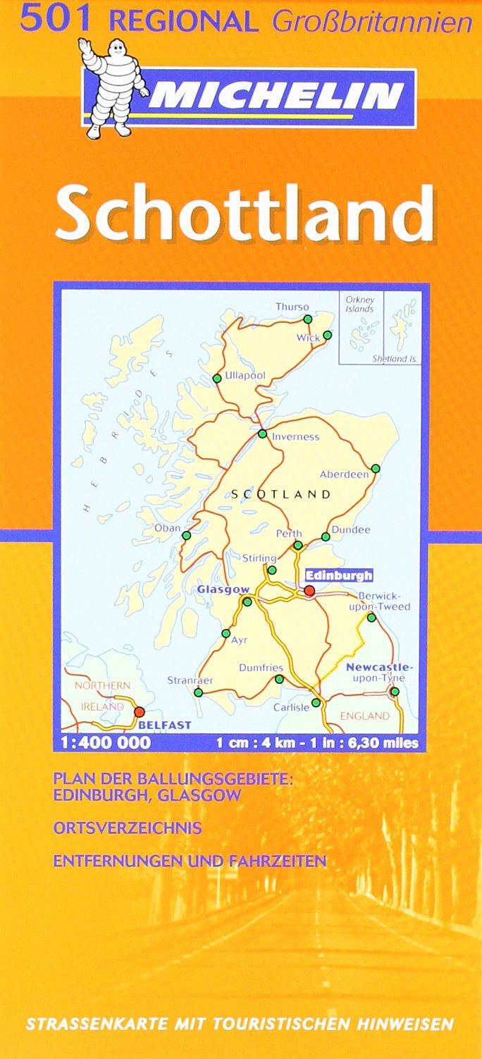 Schottland (MICHELIN Regionalkarten, Band 501)