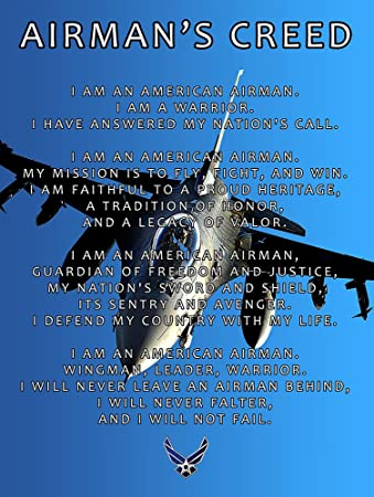 Amazon air force creed poster 18x24 afc2 airmans creed air amazon air force creed poster 18x24 afc2 airmans creed air force gifts usaf posters prints thecheapjerseys Images
