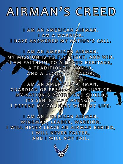 Amazon air force creed poster 18x24 afc2 airmans creed air air force creed poster 18x24 afc2 airmans creed air force gifts usaf thecheapjerseys Images