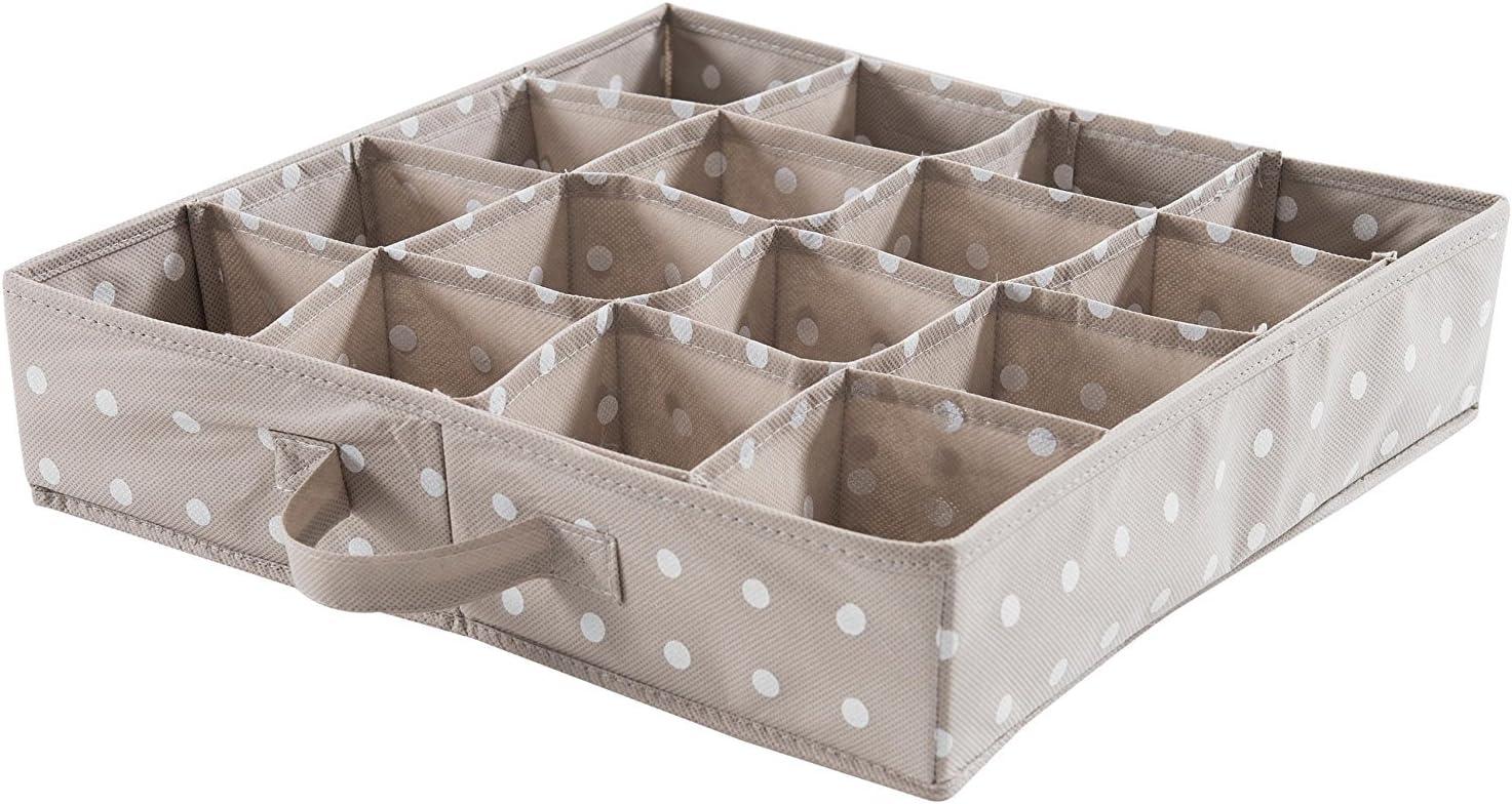Braun F/ür Unterw/äsche und Accessoires Polypropylen-Vliesstoff RAN4402/_Brown COMPACTOR Schubladen-Organizer mit 16 F/ächern 40 x 40 x 9/cm