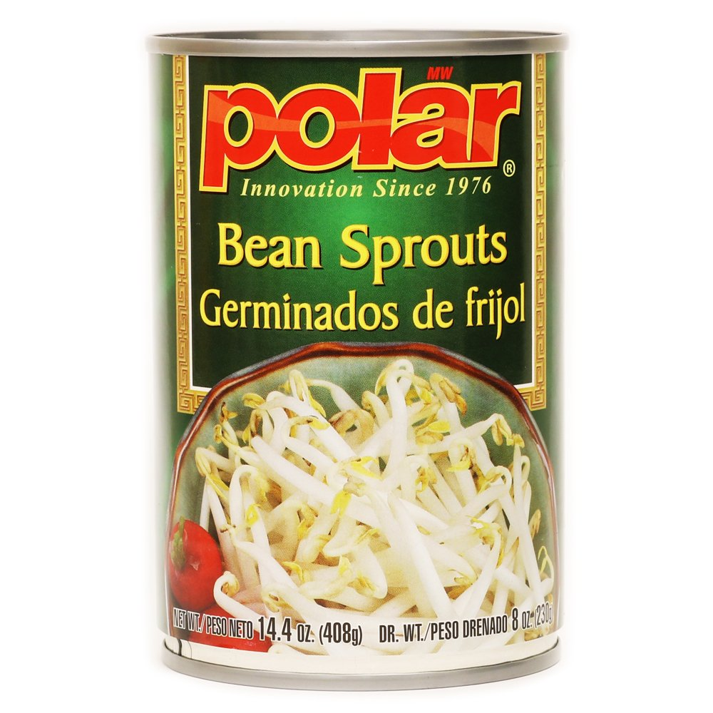 MW Polar Canned Vegetables, Bean Sprouts, 14.4-Ounce (Pack of 12)
