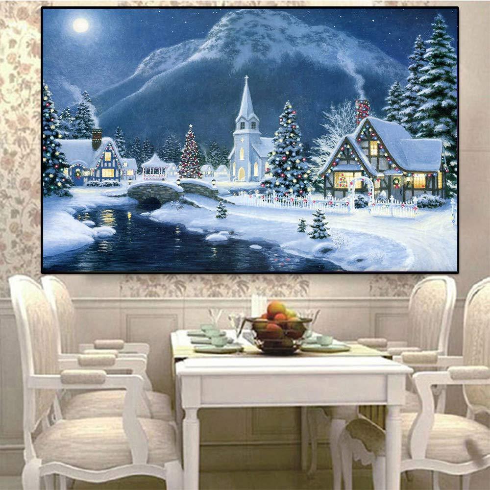 Natale 30X45cm // 12X18inch Orsit Pittura Diamante Art Set Fai da Te Punto Croce Digitale Set Decorazione Artigianato Artigianato Fai da Te