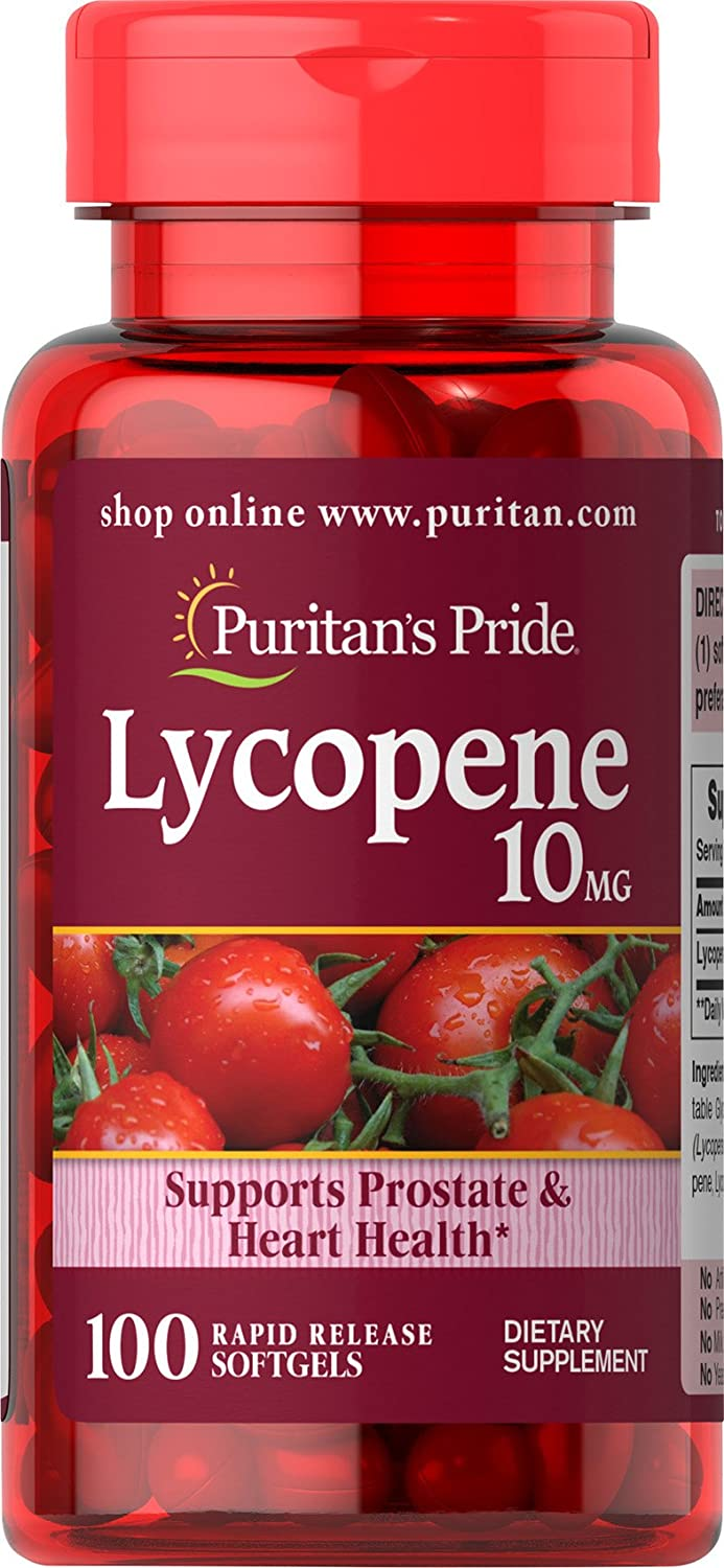 Puritans Pride Lycopene 10 Mg Softgels, 100 Count