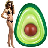 Obuby Inflatable Avocado Pool Float Floatie with Ball Fun Pool Floats Floaties Summer Swimming Pool Raft Lounge Beach Floaty