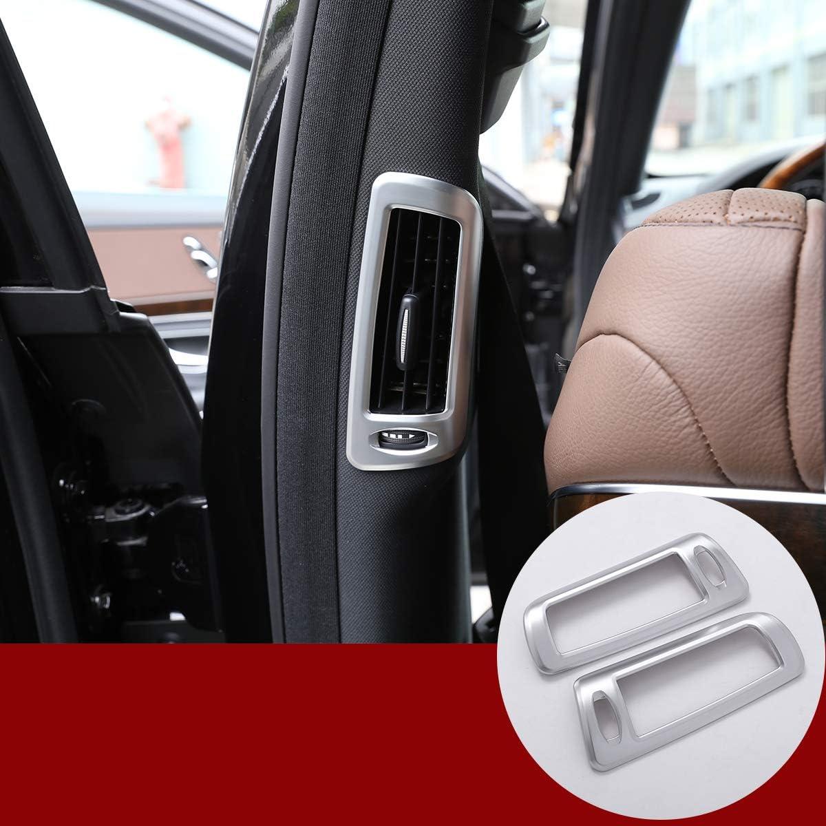 YIWANG ABS Chrome B Pillar Air Conditining Outlet Frame Trim Car Accessories for Mercedes Benz S Class W222 2014-2019