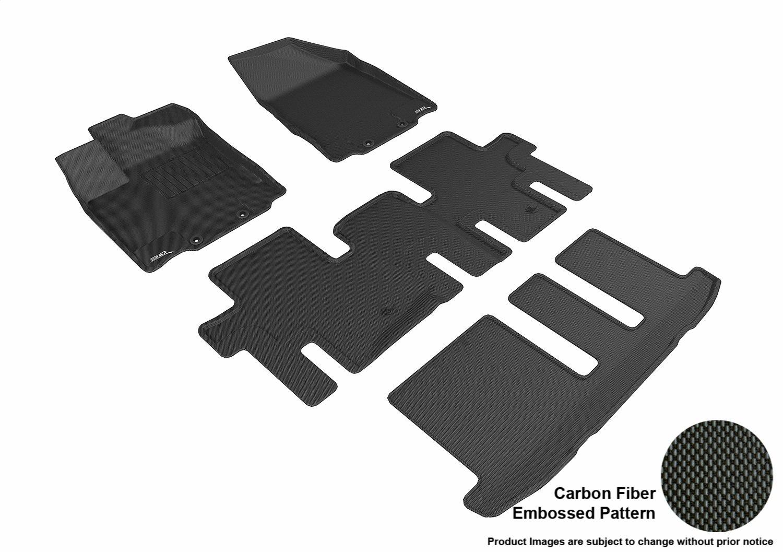 3D MAXpider L1NS10701509 R1 R2 R3 Kagu Floor Mat for Nissan Pathfinder 2013-2017, Black B074ZKS1BZ