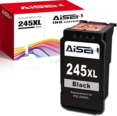 1 Black 1 Tri-Color AISEN Remanufactured Canon Ink Cartridges 245 and 246 Replacement for Canon PG-245XL CL-246XL PG-243 CL-244 Used in MX492 MX490 TS3120 TS302 TS202 TR4520 MG2920 MG2520 MG2522