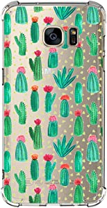 Samsung Galaxy S6 Edge Case with Flowers, IESSVI Girl Floral Pattern Clear TPU Soft Slim Phone case for Samsung Galaxy S6 Edge (7)
