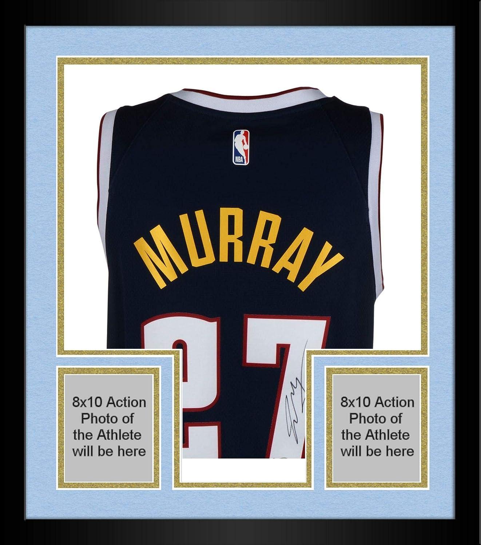 online store 3ad51 29f9c Framed Jamal Murray Denver Nuggets Autographed Nike Navy ...