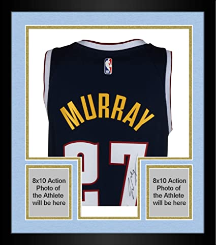 Image Unavailable. Image not available for. Color  Framed Jamal Murray  Denver Nuggets Autographed Nike Navy Swingman Jersey ... e3c859431