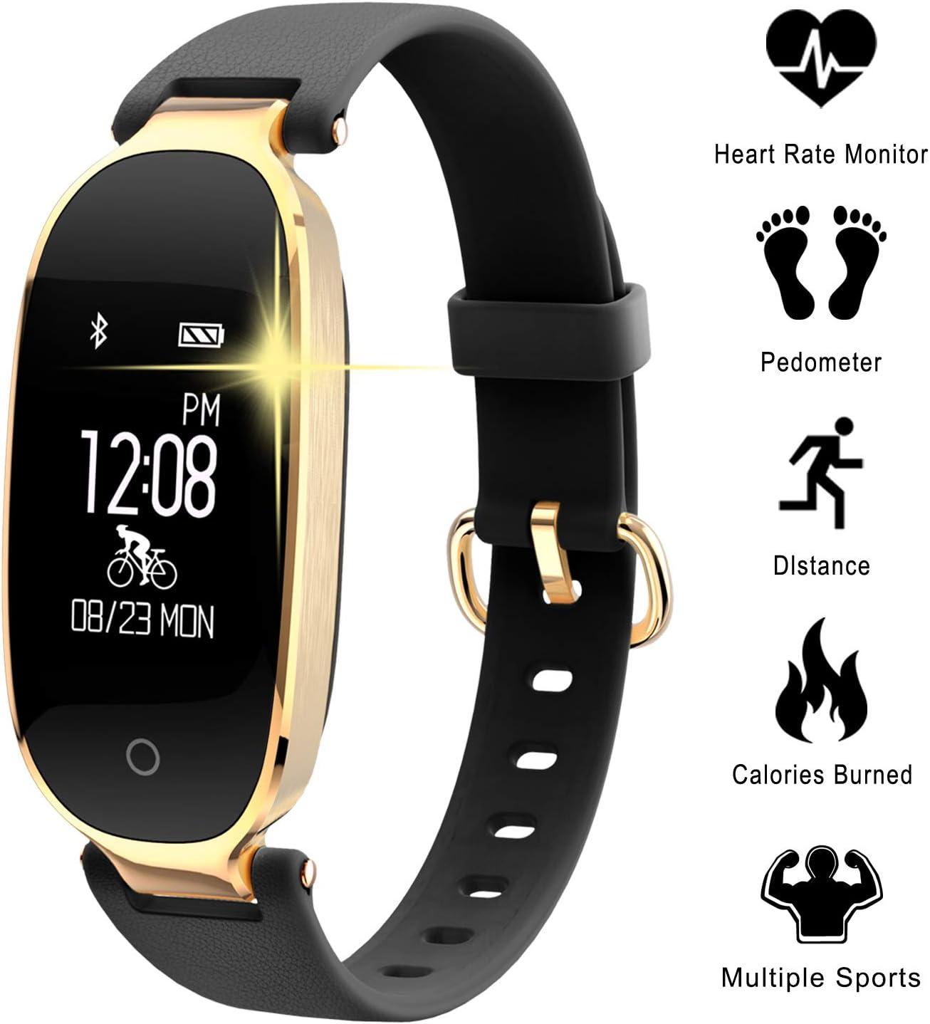 WOWGO Pulsera Actividad, Smartwatch Impermeable IP67, Reloj Inteligente con Pulsómetro, Reloj de Fitness con Podómetro para Android y iOS Teléfono móvil para Mujer Hombre niños
