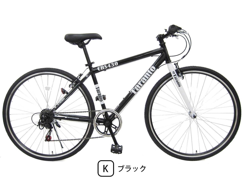 ターラント (TARANTO) 430mm シマノ6段変速 クロスバイク スポーツ用自転車 B0793QH3GKブラック