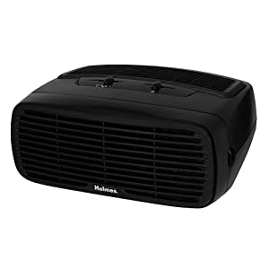 Holmes Small Room 3-Speed HEPA-Type Air Purifier with Optional Ionizer, Black