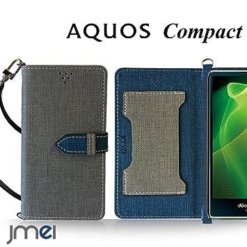 f5692adfb1 AQUOS Compact SH-02H ケース JMEIオリジナルカルネケース VESTA グレー docomo ドコモ アクオス コンパクト