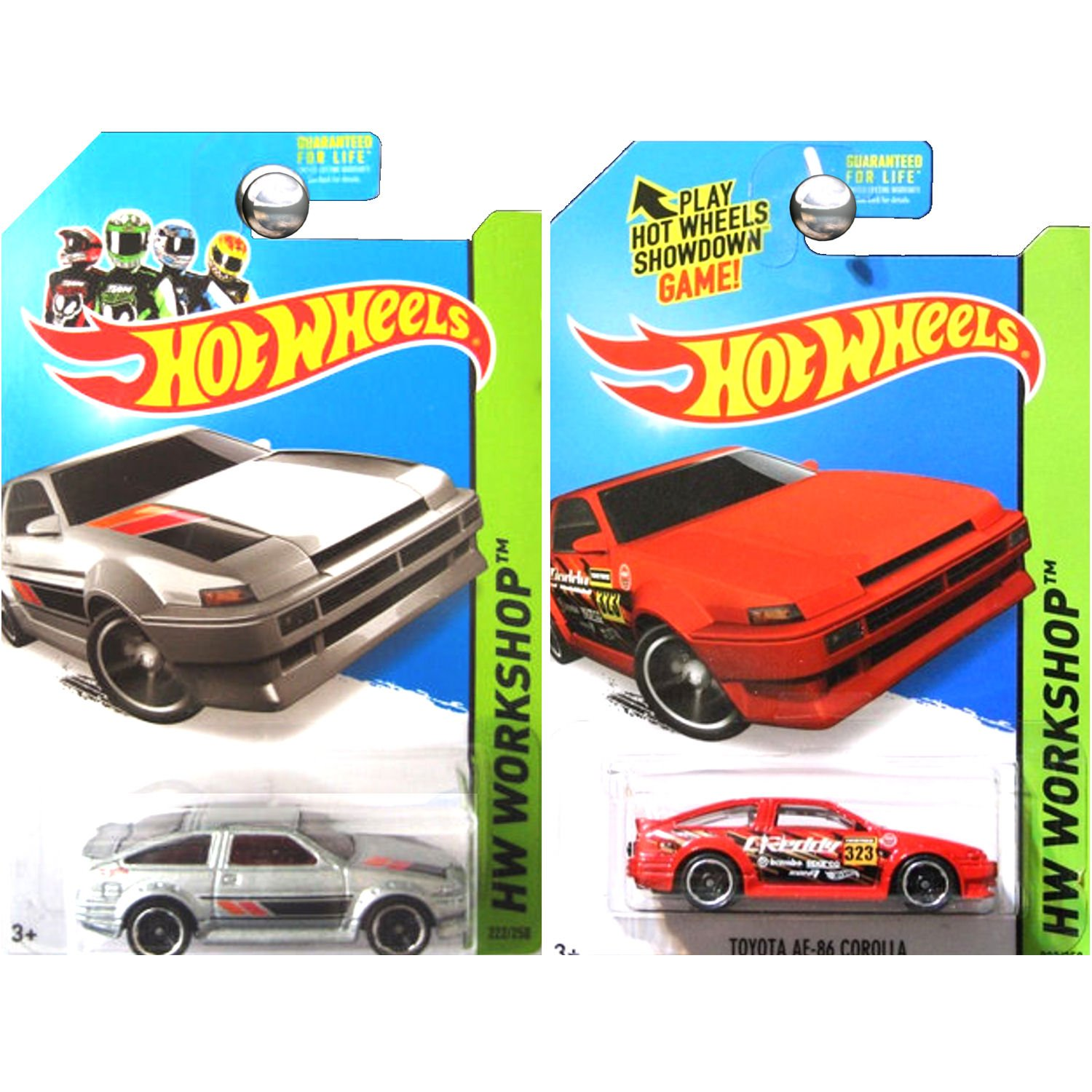Hot Wheels Workshop Toyota Corolla Ae 86 Ae86 In Silver Hotwheels Red And Set Of 2 Toys Games