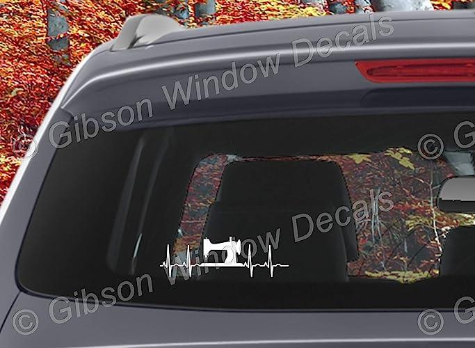 Sewing Vinyl Window Decal Sticker Quilting Eat Sleep Quilt Decal Car Truck