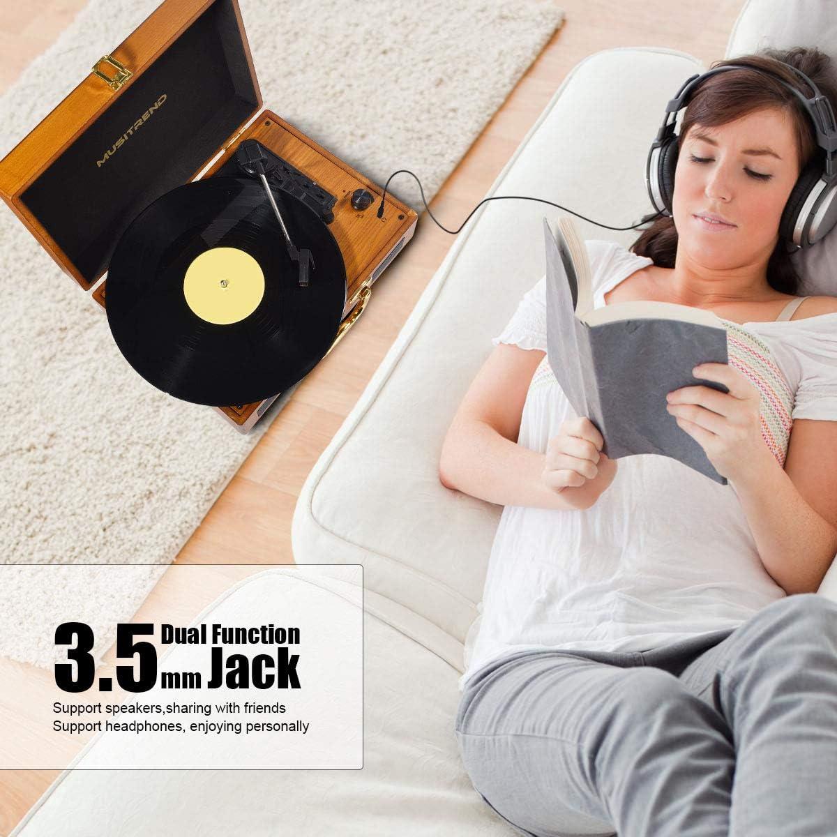 Amazon.com: Musitrend - Tocadiscos de vinilo, reproductor de ...
