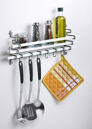 Lovely Assa Design Spice Rack And Utensils Hooks