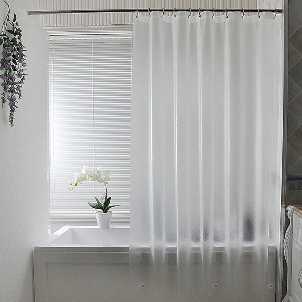 Heavyweight extra long frosted shower curtain liner