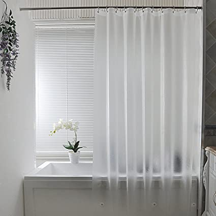 Aoohome Frosted Shower Curtain Liner Eva Extra Long 72x78 Inch With 3 Bottom