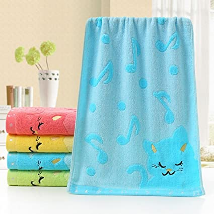 CIOLER HomeFun - 50 x 25 cm Toallas Bebe Bordado Animal Suave Toalla algodón para niños